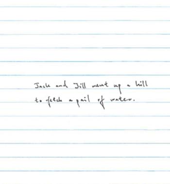 Scris marunt al unei femei