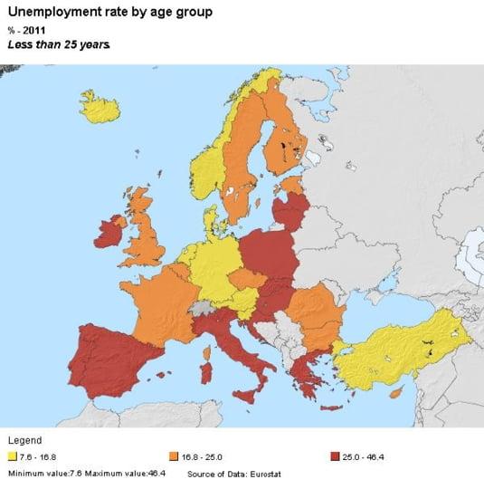 somaj tineri Europa