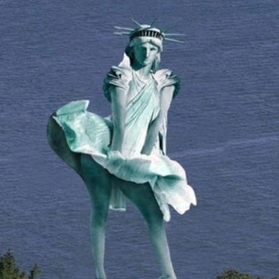 statuia libertatii ironizata