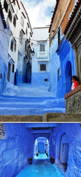 strada albastra Chefchaouen