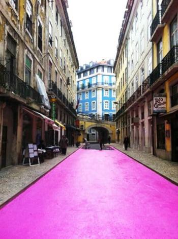 strada roz Portugalia