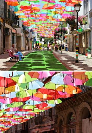 strada umbrele Portugalia