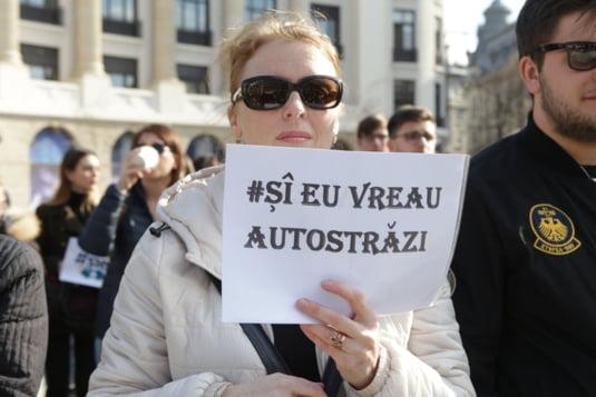 studentii vor autostrazi pancarte