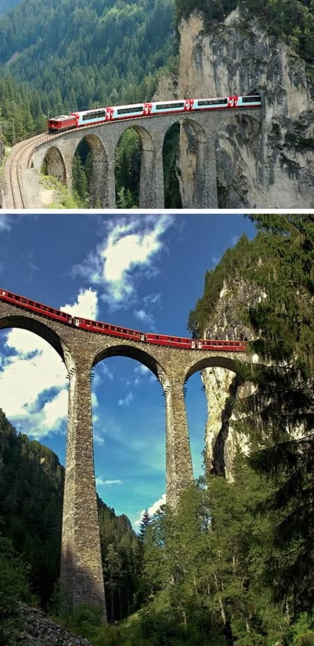 The Landwasser Viaduct Elvetia