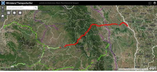 Traseul Autostrazii A8 Targu Mures-Iasi-Ungheni