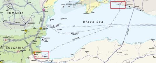 Traseul TurkStrem prin Marea Neagra, de la Anapa la Kiyikoy