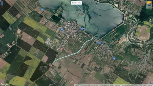 Traseul Variantei Ocolitoare a orasului Mihailesti, via Asociatia Pro Infrastructura