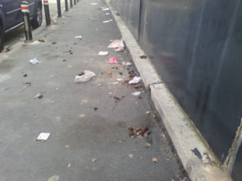 trotuar Bucuresti murdar