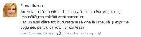 Udrea voteaza facebook
