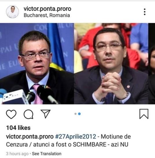Victor Ponta motiune cenzura