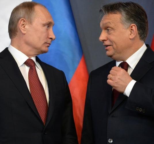 Vladimir Putin, alaturi de prietenul Viktor Orban, Ungaria